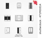 cupboard wardrobe icons....