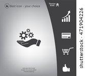 hand symbol settings wrench...   Shutterstock .eps vector #471904226