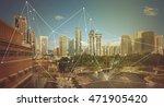 smart city and wireless...   Shutterstock . vector #471905420