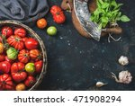 fresh colorful ripe heirloom... | Shutterstock . vector #471908294