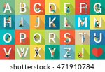 alphabet vacation concept. flat ... | Shutterstock . vector #471910784
