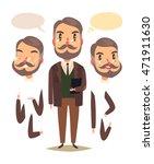 teacher. heads and hands... | Shutterstock .eps vector #471911630