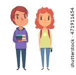 high school   college students. ... | Shutterstock .eps vector #471911654