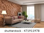 interior with sofa. 3d... | Shutterstock . vector #471911978