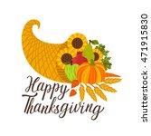 vector thanksgiving background... | Shutterstock .eps vector #471915830