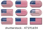 nine glass buttons of the  flag ... | Shutterstock . vector #47191654