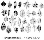 set with stamp leaves. objects... | Shutterstock .eps vector #471917270