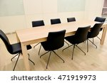 meeting room table.chairs | Shutterstock . vector #471919973