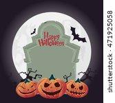 halloween pumpkin carving and... | Shutterstock .eps vector #471925058