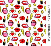 seamless pattern with fashion... | Shutterstock .eps vector #471926144