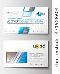 business card templates. cover... | Shutterstock .eps vector #471928604