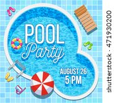 summer pool party invitation... | Shutterstock .eps vector #471930200
