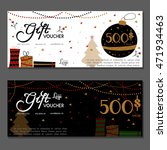 gift voucher. vector ... | Shutterstock .eps vector #471934463