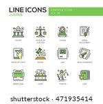 justice   modern vector line... | Shutterstock .eps vector #471935414