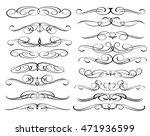 set of decorative elements.... | Shutterstock .eps vector #471936599