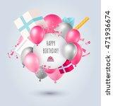 happy birthday card | Shutterstock .eps vector #471936674