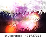 crowd of party people... | Shutterstock .eps vector #471937316