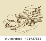 engraving stack paperback still ... | Shutterstock .eps vector #471937886