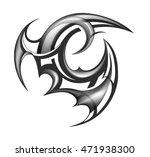 tribal tattoo design maori... | Shutterstock . vector #471938300