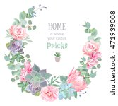 stylish floral vector design... | Shutterstock .eps vector #471939008