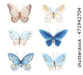 collection of flying... | Shutterstock .eps vector #471942704