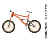 bike mountain downhill orange... | Shutterstock .eps vector #471945590