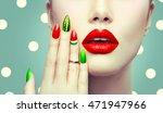 trendy watermelon summer... | Shutterstock . vector #471947966
