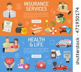 insurance services horizontal... | Shutterstock .eps vector #471950174