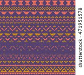 tribal geometric seamless... | Shutterstock .eps vector #471951578