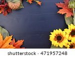 Bright Colorful Autumn Fall...