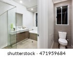 bathroom with washing area and... | Shutterstock . vector #471959684