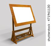 drawing board. 3d illustration | Shutterstock . vector #471961130
