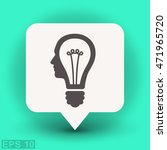 pictograph of bulb concept | Shutterstock .eps vector #471965720