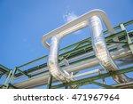 chemical pipe line transfer on... | Shutterstock . vector #471967964
