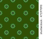 Computer generated fractal image with a green roundel seamless tile design. - stock photo