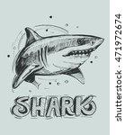 shark sketch. vector... | Shutterstock .eps vector #471972674