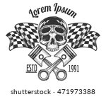 vintage biker rider skull... | Shutterstock .eps vector #471973388
