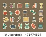 icons on the theme of school... | Shutterstock .eps vector #471974519