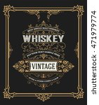 whiskey card with old frame | Shutterstock .eps vector #471979774