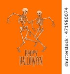 dancing skeletons for halloween ... | Shutterstock .eps vector #471980074