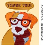 cute dog thank you card... | Shutterstock .eps vector #471980149