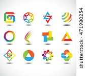 business abstract icons. vector ... | Shutterstock .eps vector #471980254