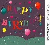 vector greeting card happy... | Shutterstock .eps vector #471981124