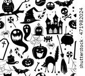 vector illustration black and... | Shutterstock .eps vector #471982024