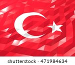 flag of turkey 3d wallpaper...   Shutterstock . vector #471984634
