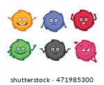cute monsters vector... | Shutterstock .eps vector #471985300