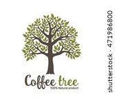 hand drawn graphic coffee tree... | Shutterstock .eps vector #471986800