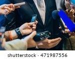 media interview with politician ... | Shutterstock . vector #471987556