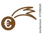 euro falling meteor icon. glyph ...   Shutterstock . vector #471988360