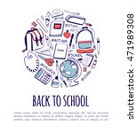 vector illustration with hand... | Shutterstock .eps vector #471989308